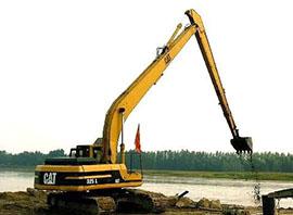 二手轮式挖掘机施工案例